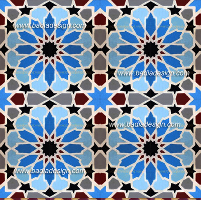 This pattern is created by the combination of many CT007 tile design.