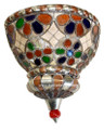 Metal with Multiple Color Glass Half Moon Wall Sconce WL007