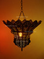 Moroccan Brass Flower Chandelier CH003