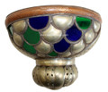 Metal Half Moon with Multiple Colored Glass Wall Sconce WL009