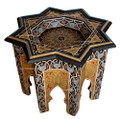 Hand Painted Carved Star Top Side Table HPS801