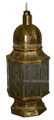 Brass with Pressed Clear Glass Lantern LL070