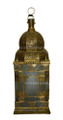 Brass with Pressed Clear Glass Lantern LL071
