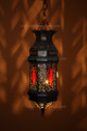Red Color Glass Lantern - LG051