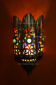 Brass with Red Colored Glass Eyes Wall Sconce WL050