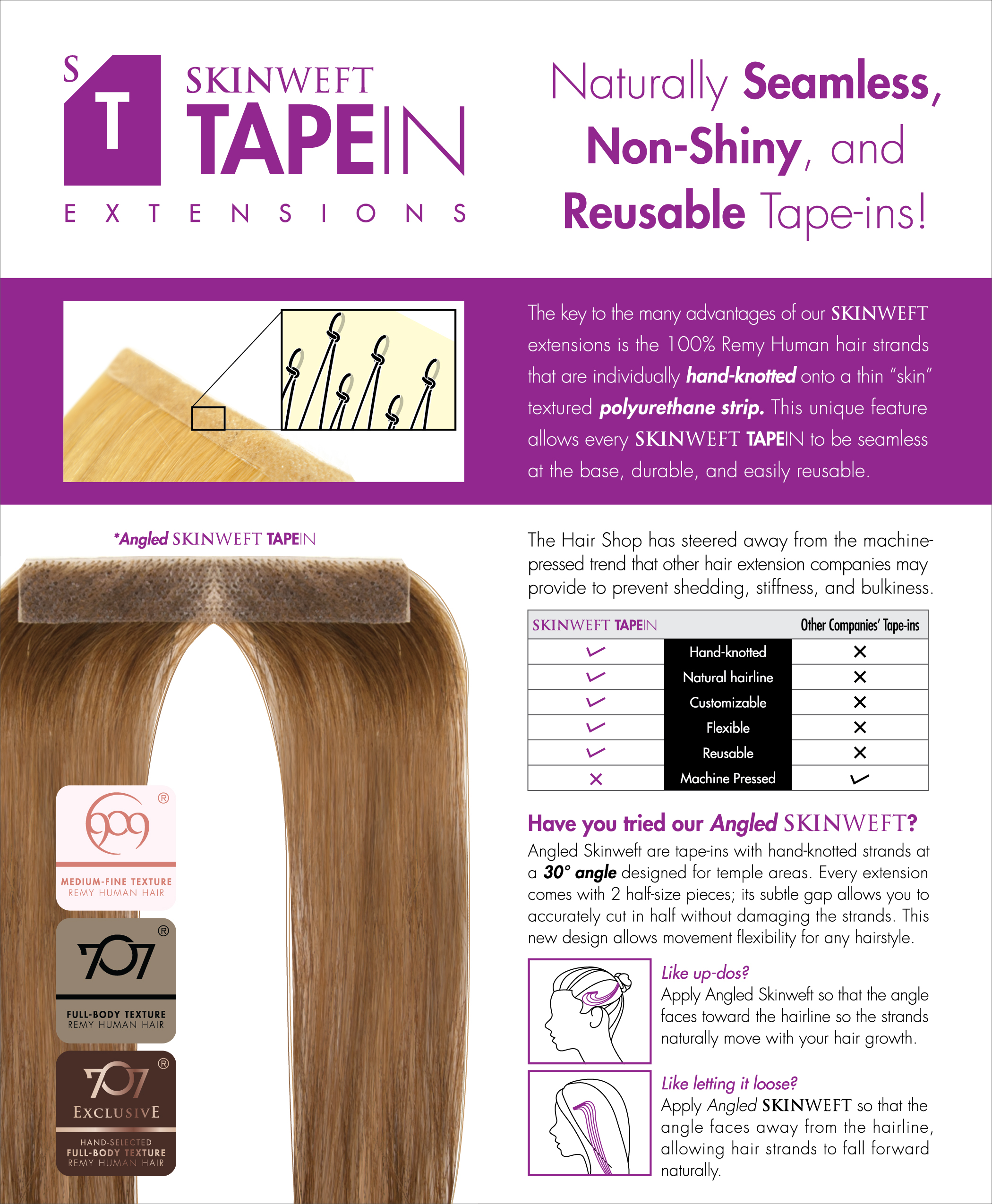 Skin Weft Tape Ins