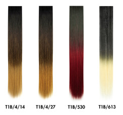 "SkinWeft Ombre Straight 18"" Single 
