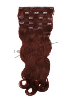 7-Piece Indian Hair Clip-In Body Wave 20"