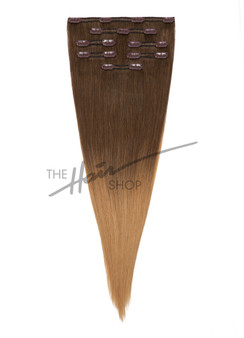 "7-Piece Indian Hair Clip-In Straight 16"" Ombre 