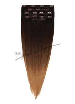 "7-Piece Indian Hair Clip-In Straight 20"" Ombre 