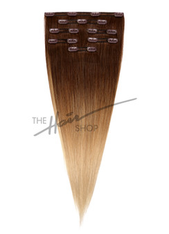 "7-Piece Indian Hair Clip-In Straight 18"" Ombre 