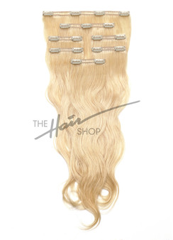 7-Piece Indian Hair Clip-In Body Wave 18"