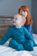Comfy Bamboo Pajamas Soothe Eczema -  Midnight Blue - Secure Flippable Mittens - suits boys or girls