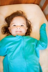 Bamboo Bubby Bag is the only natural bamboo-cotton sleeping bag specifically designed for babies with eczema.  Its unique Adjust-a-Sleeve® design protects delicate baby skin against scratching, for a good night's sleep, for everyone. Bamboo Bubby Bag can not only relieve the severity of infant and toddler eczema flare ups, but its unique design provides ultimate comfort and value.