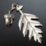 Oak Leaf & Seed Charm