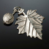 Sycamore Leaf & Seed Charm