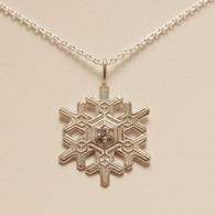 Blizzard Snowflake Pendant with Cubic Zirconia