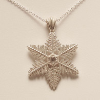 Large Starlet Snowflake Pendant with Cubic Zirconia