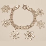 Snowflake Charm Bracelet with Diamonds