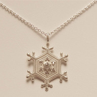 Tingle Snowflake Pendant with Diamonds