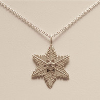 Starlet Snowflake Pendant with Diamond