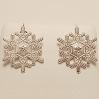 Blizzard Snowflake Earrings with Diamond
