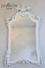IN STOCK NOW: Flower Top Mirror - Antique White