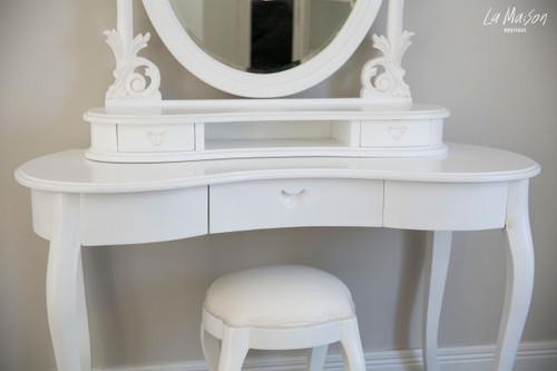IN STOCK NOW: Oval Dresser & Stool