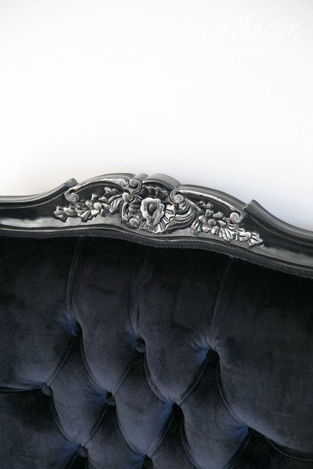 IN STOCK NOW: Wingback - black with silver