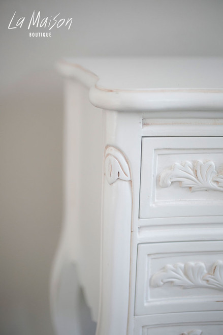 IN STOCK NOW: Bedside Table - antique white