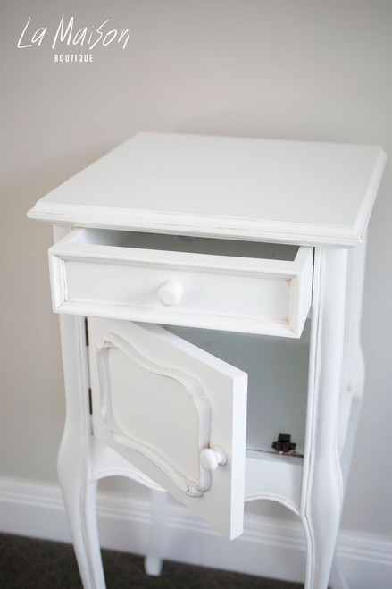 IN STOCK NOW: Bedside table with door
