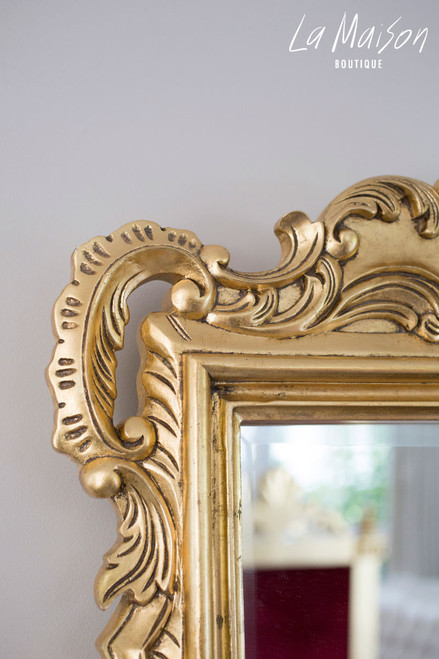 PRE ORDER: French carved mirror - gold antique