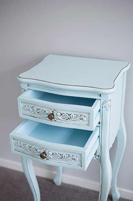 IN STOCK NOW: Bedside table - duck egg blue