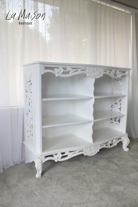 IN STOCK NOW: Carved open cabinet