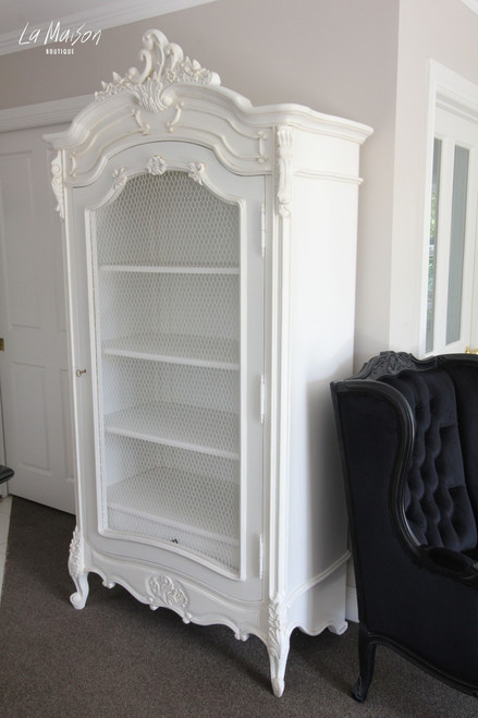 IN STOCK NOW: Armoire with wire door