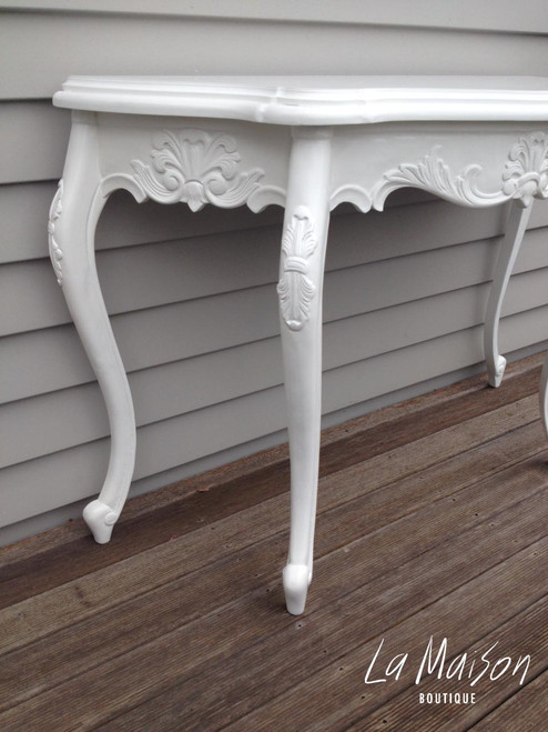 PRE ORDER: Serpentine Wall Table  - pure white