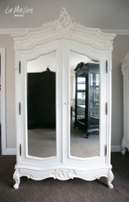 PRE ORDER: Two door Armoire with Mirrors