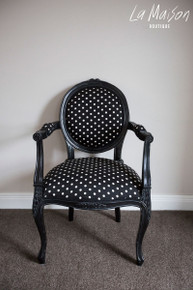 IN STOCK NOW: Rosebud chair - polka dot