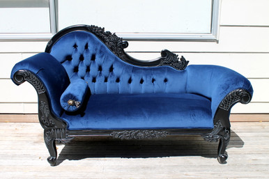 pre order flower carved chaise longue galaxy blue la maison boutique