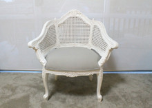 IN STOCK NOW: Rattan carved armchair - white