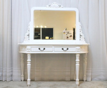 IN STOCK NOW: Dressing table two drawers - white