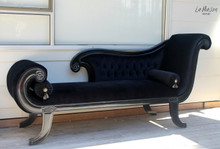 IN STOCK NOW: Button Chaise Longue Antique