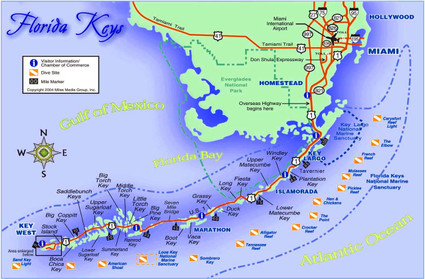 Map of Key West Florida