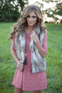 Two-Tone Faux Fur Vest