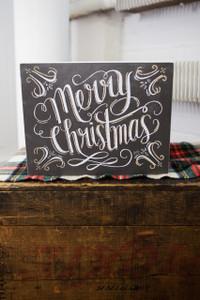 Merry Christmas Box Sign