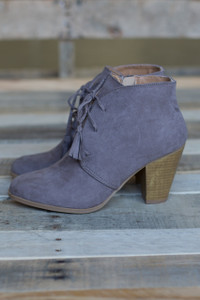 Lace Up Lover Bootie - Taupe