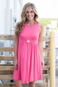 Baby Doll Tank Dress - Pink