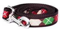 Oxford Dog Leash-Cinnimon Argyle