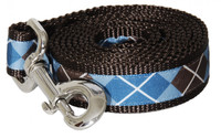 Chocolate Snow Cone Dog Leash-Argyle