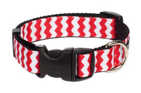Chevron Dog Collar-Red